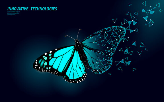 GMO insect gene modified plant. Science chemistry biology genetics engineering innovation organic eco food technology 3D render geometric background template. banner vector illustration