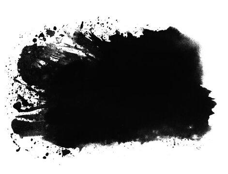Gemalter Pinsel Banner mit schwarzer Farbe