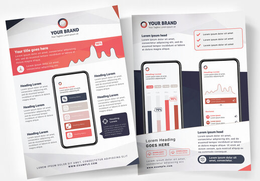 Mobile App Information Poster Template