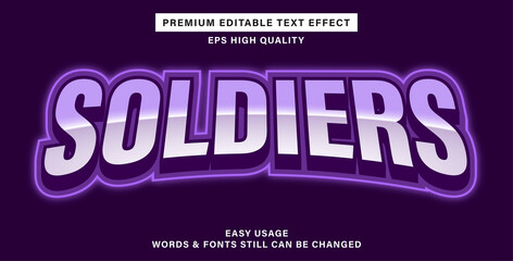 Wall Mural - Premium editable text effect esport soldiers