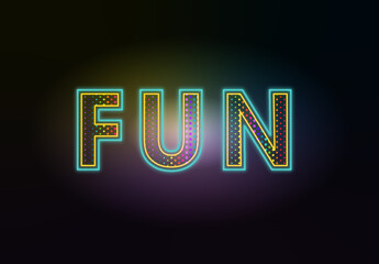 Colourful Neon Text Effect