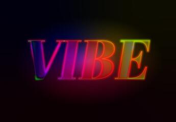 Vibrant Neon Text Effect