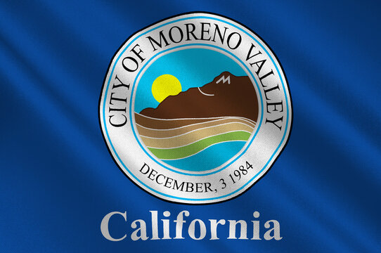 Flag of Moreno Valley in California, United States
