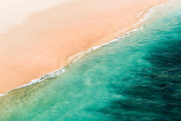 Tropical beach background from above