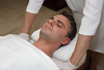 Chest opening massage. Chronic back pain treatment and scoliosis correction in adults
