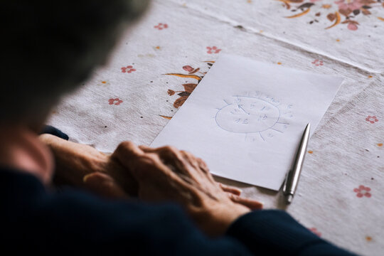 Alzheimer's and dementia clock drawing test