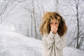 Teen Girl In Snow