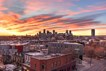 Denver, Colorado Skyline at Sunset