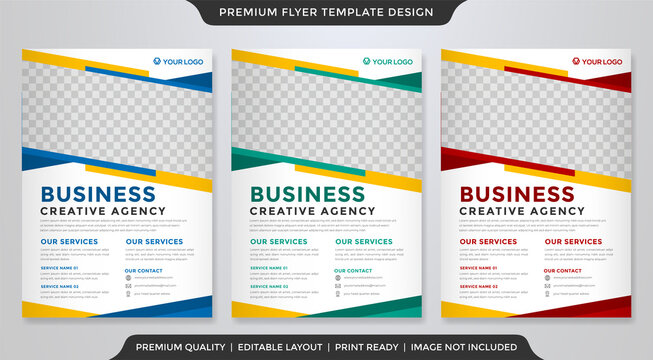 business flyer template with modern layout and abstract style use for business profile and product promotion
