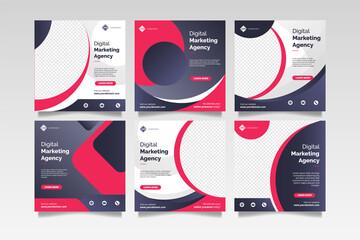 Obraz Digital business marketing social media post template - fototapety do salonu