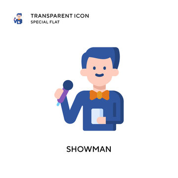 Showman vector icon. Flat style illustration. EPS 10 vector.