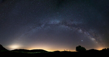 panoramic of a complete milky way
