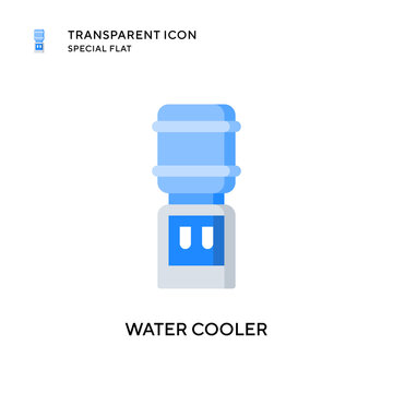 Water cooler vector icon. Flat style illustration. EPS 10 vector.