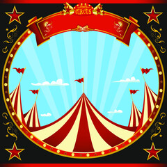 Square sticker black circus. a square flyer with a circus theme for your show