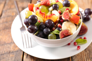 fresh fruit salad in bowl