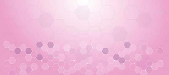 sfondo, esagoni, legami, atomi, esagonale, chimica Fotobehang