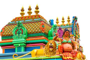 Temple indien sur fond blanc