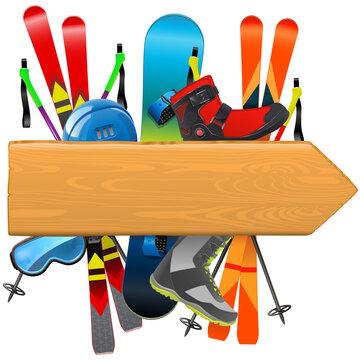 Vector Ski Rental Board