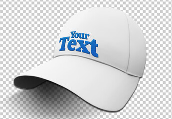 Colorful Isolated Cap Mockup with a Embroidery Text Effect