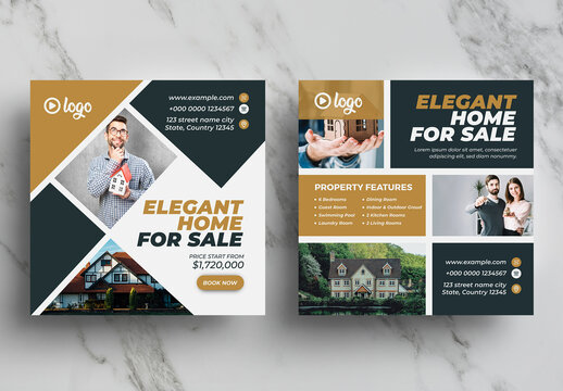 Real Estate Social Media Banner Pack