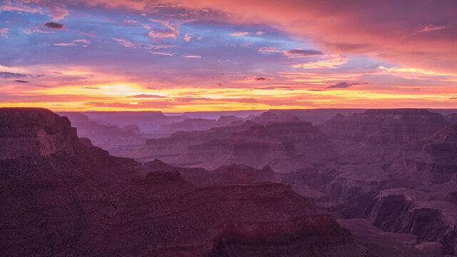 USA, Arizona, Grand Canyon at sunset