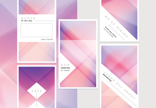 Abstract Geometric Colorful Social Media Story Layouts