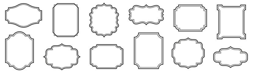 Vintage frames set isolated on white background. Decorative frame. Vector