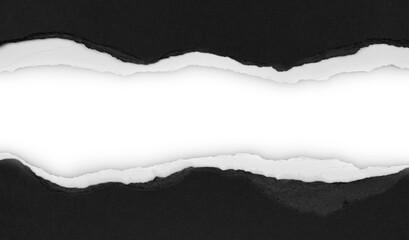 Gap in ripped paper