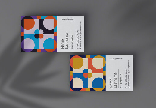 Color Block Business Card Layout