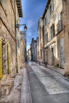 Historical street in Arles, France