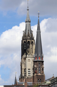 Church towers of Delft, Holland