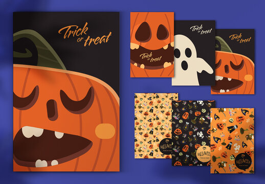 Halloween Postcard Layout