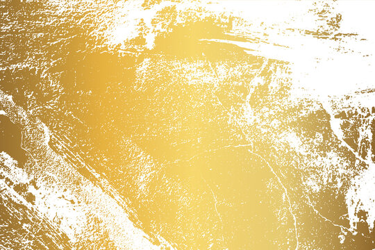 Gold Grunge Texture with distressed effect. Gold grunge wall texture. Abstract patina background. Vintage luxury Gold Background. Vector illustration