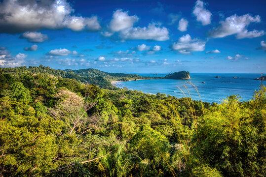 Manuel Antonio national park beach and peninsula, Costa Rica