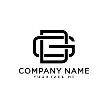 simple GD or DG letter logo design with monogram modern vector idea