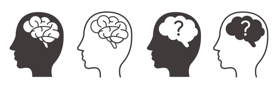 Human brain. Isolated vector icon