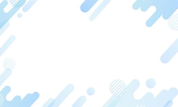 青色・幾何学模様の背景パターン素材