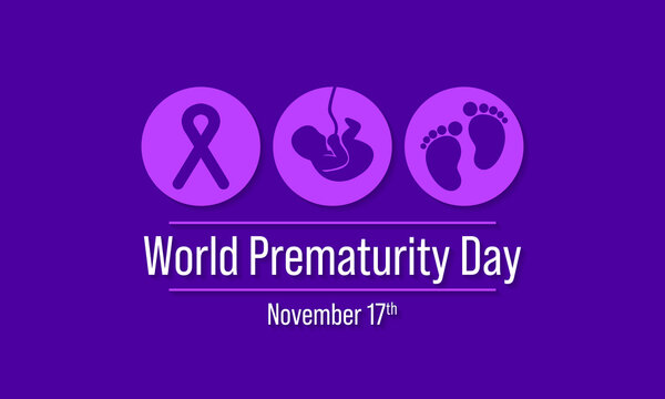 Vector illustration on the theme of World Prematurity day observed each year on November 17th across the globe.