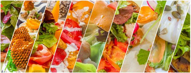 Assemblage de salades, assortiment d'entrées