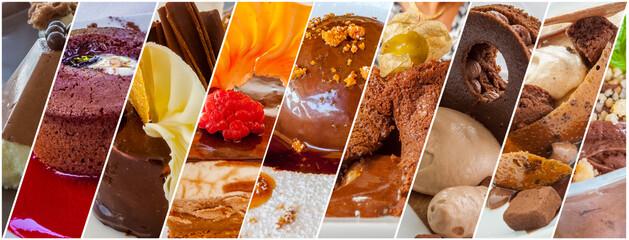 Assortiment de desserts au chocolat