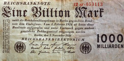 Deutsches Inflationsgeld von 1923