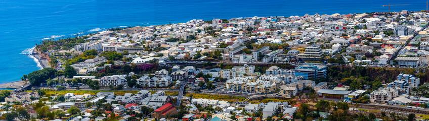 Panorama de Saint-Denis, île de la Réunion