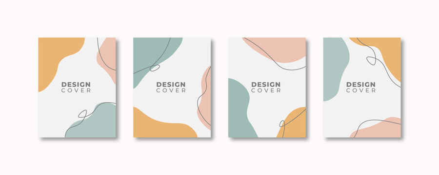 Set of abstract creative universal cover design templates. Vector illustration.