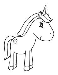 Printed roller blinds Cartoon draw Cute Unicorn Vector Illustration Art