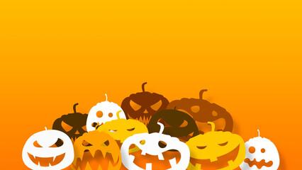 sfondo, cartolina, zucche, halloween,