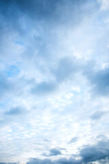 beautiful blue sky with white clouds