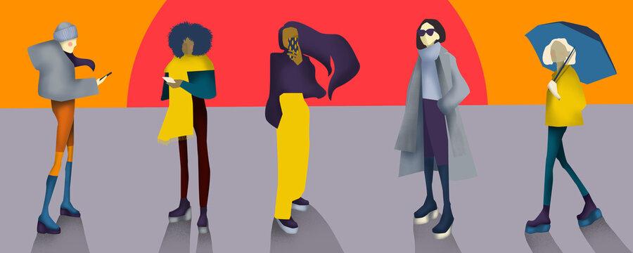 Autumn Winter Season Street Fashion for females