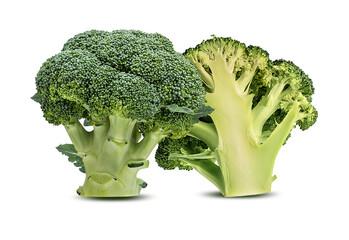 Broccoli isolated on white background.