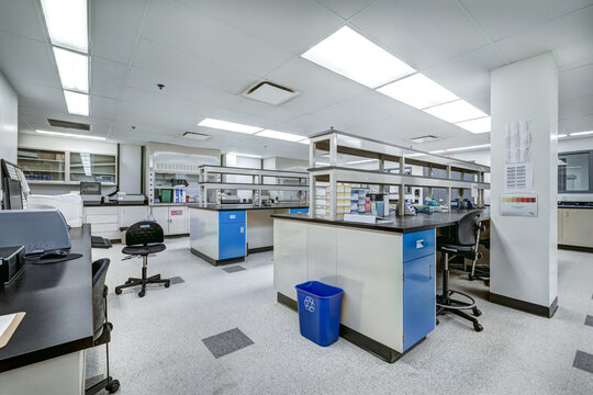 Biochemical laboratory with production line, office and warehouse