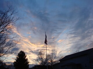 Flag in the Sunset